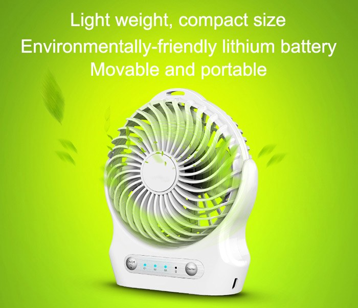 Coolcold Portable USB Mini Fan 2000mAH - S01 3