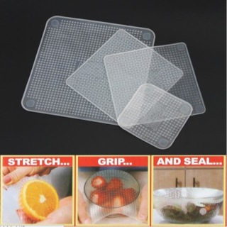 Stretch and Fresh Reusable Food Wraps seperti Cling Wrap Plastik