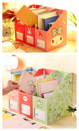 Box File Document Organizer/kotak Tempat Penyimpanan Dokumen File Unik