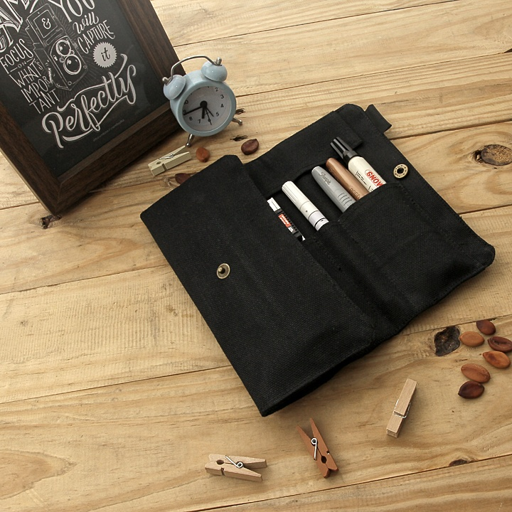 Roll Up Pencil Case Black Edition