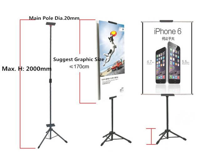 Tripod Display / Stand Banner TRIPOD POSTER / TRIPOD Display BERDIRI