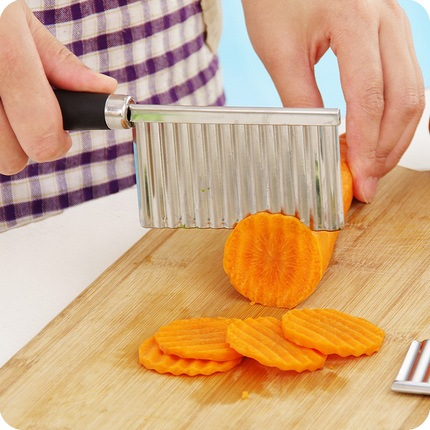 Wavy Potatoes Knife Kitchen / Pisau Pemotong Kentang