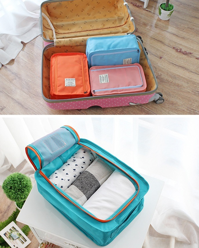 Korea Colorful shoes pouch travel ver 3 / tas sepatu / bag organizer
