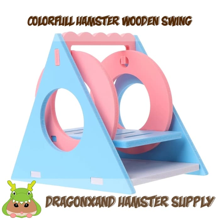 Colorfull Hamster Wooden Swing