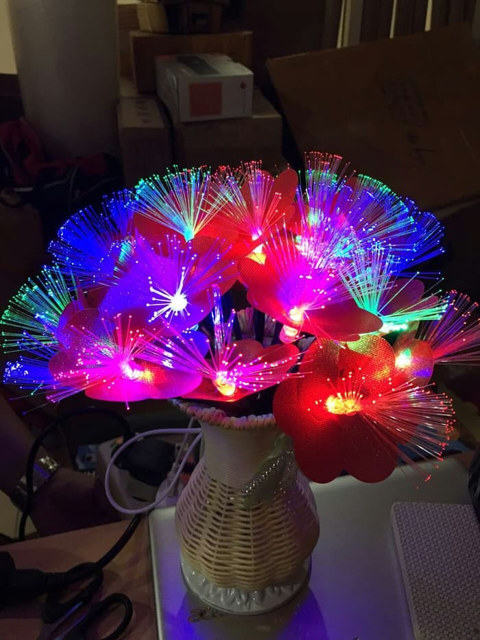 Beautiful Flower Fiber Led (Vas Bunga Fiber Optic Led Light)