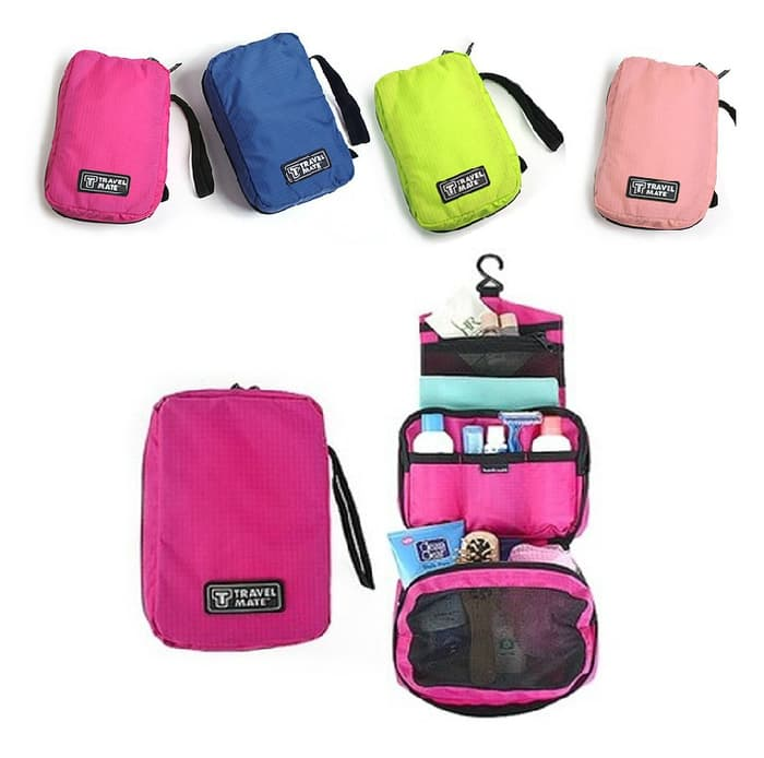 Travel Mate Toiletries Pouch (Tas Penyimpanan Multifungsi / organizer)