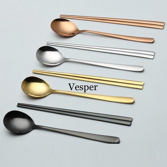 Sendok sumpit korea set / sendok stainless / chopstick korea set