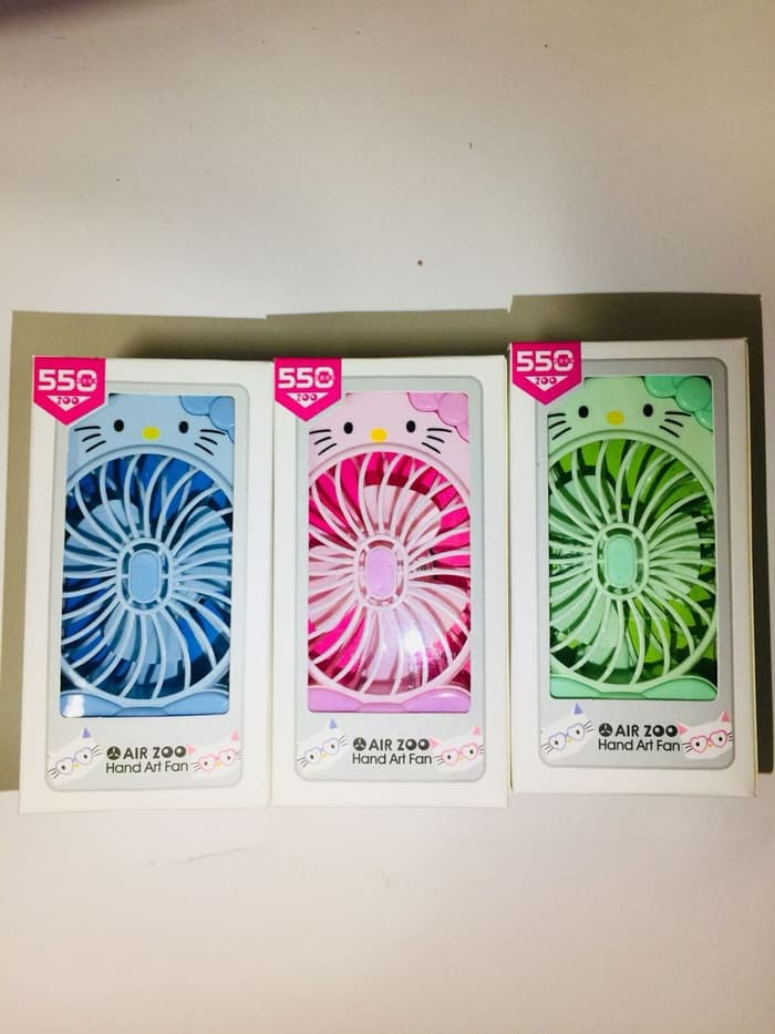 Portable Fan Kipas Angin Hello Kitty Cute angin kencang Rechargeable